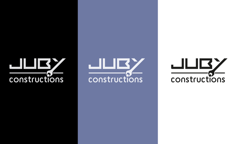 juby construction logo tryptic
